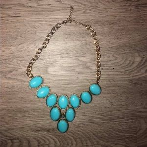 Turquoise bubble style necklace